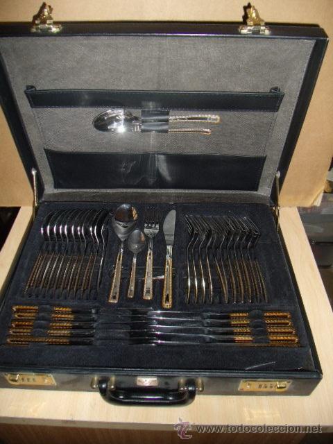 Cuberteria 72 piezas de acero inoxidable y filo comprar ba ado en plata antigua en - Cuberteria de plata precios ...
