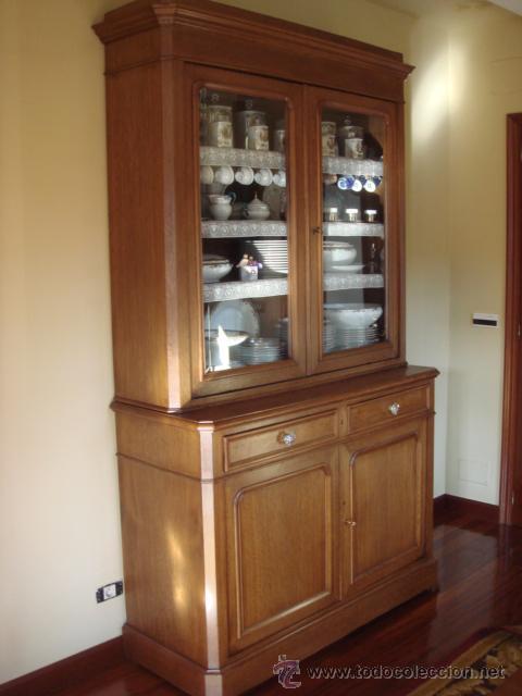 Antigua vitrina o libreria en madera de roble comprar - Libreria de madera ...