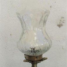 Antigüedades: LAMPARA DE BRONCE PLATEADO. Lote 28342269