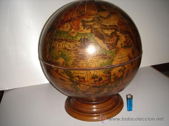 Bola del mundo botellero comprar en todocoleccion - Bola del mundo decoracion ...