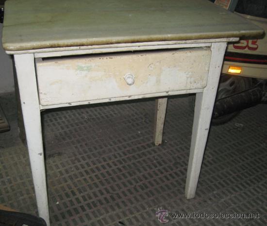Mesa de cocina con tapa de marmol para decapar comprar for Restaurar muebles de cocina