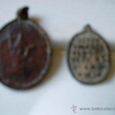 Antigüedades: LOTE 2 MEDALLAS ANTIGUAS.. Lote 28368948