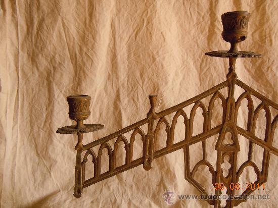 Antigüedades: CANDELABRO DE BRONCE 5 VELAS FINALES XIX - Foto 4 - 28375968
