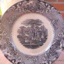 Antigüedades: PRECIOSO Y ANTIGUO PLATO SANDEMAN MACDOUGALL, SERIE VISTAS. CHINA OPAQUE.. Lote 28383031