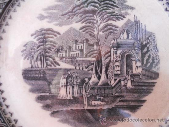 Antigüedades: PRECIOSO Y ANTIGUO PLATO SANDEMAN MACDOUGALL, SERIE VISTAS. CHINA OPAQUE. - Foto 2 - 28383031