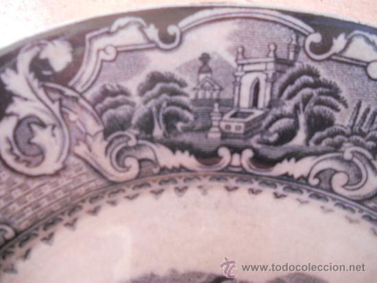Antigüedades: PRECIOSO Y ANTIGUO PLATO SANDEMAN MACDOUGALL, SERIE VISTAS. CHINA OPAQUE. - Foto 3 - 28383031