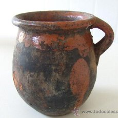 Antigüedades: CERAMICA POPULAR ANTIGA CATALANA.MITJANS DEL S. XIX. OLLETA.OLLA.TUPI. GERRA. JARRA. BARRO. LLEIDA.. Lote 28400566