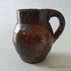 Antigüedades: CERAMICA POPULAR ANTIGA CATALANA.PRIN. XX.PETITA GERRA. BARRO. JARRA. LLEIDA. CERAMICA VIDRIADA.. Lote 28400741