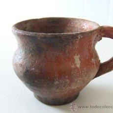 Antigüedades: ANTIGA CERAMICA POPULAR CATALANA.ANTIGUA.MITJANS DEL S. XIX.TASSA. GERRA. TUPI. LLEIDA.. Lote 28400839