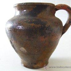 Antigüedades: CERAMICA POPULAR ANTIGA CATALANA.MITJANS S. XIX. GERRA. JARRA. BARRO. LLEIDA. . Lote 28400895