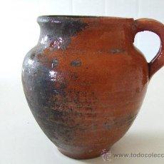 Antigüedades: CERAMICA POPULAR ANTIGA CATALANA.PRIN.S. XX.ANTIGUA. GERRA. JARRA. BARRO. LLEIDA.. Lote 28400959
