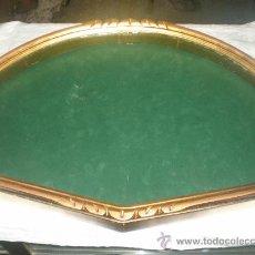 Antigüedades: ABANIQUERA DE MADERA Y PAN DE ORO. Lote 103042144