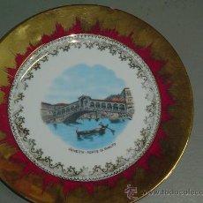 Antigüedades: PLATO PORCELANA, PUENTE DE VENECIA.. Lote 28449236