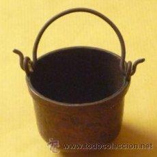 Antigüedades: OLLA CON COBRE BOCA 55 MM ALTURA CON ASA 90 MM SIN ASA 45. Lote 28470898