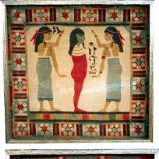 Antigüedades: DOS TAPICES EGIPCIOS DE TERCIOPELO PINTADO O ESTAMPADO - AÑOS 1920. Lote 28474216