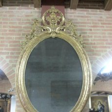 Antigüedades: ANTIGUO ESPEJO O CORNUCOPIA DORADO SIGLO XIX. Lote 28494300