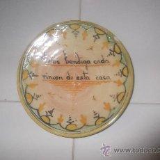 Antigüedades: ANTIGUO PLATO PUENTE DEL ARZOBISPO. 15'5 CM DIÁMETRO.. Lote 28506060