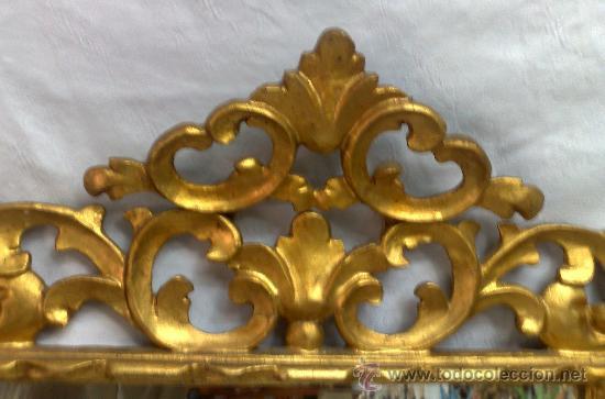 Antigüedades: MARCO CON ESPEJO, SIGLO XIX - Foto 4 - 28524963