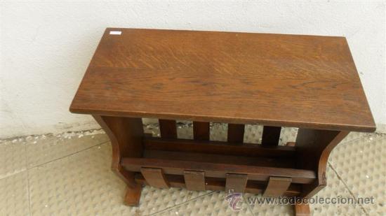 Antigüedades: revistero de madera - Foto 2 - 28538616