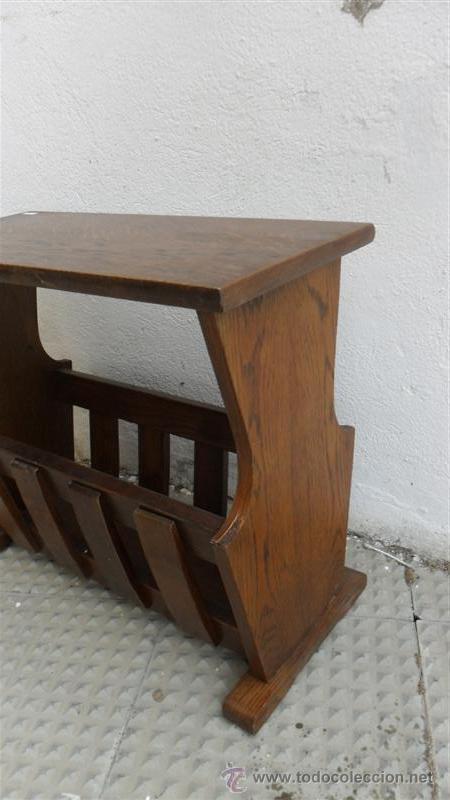 Antigüedades: revistero de madera - Foto 3 - 28538616