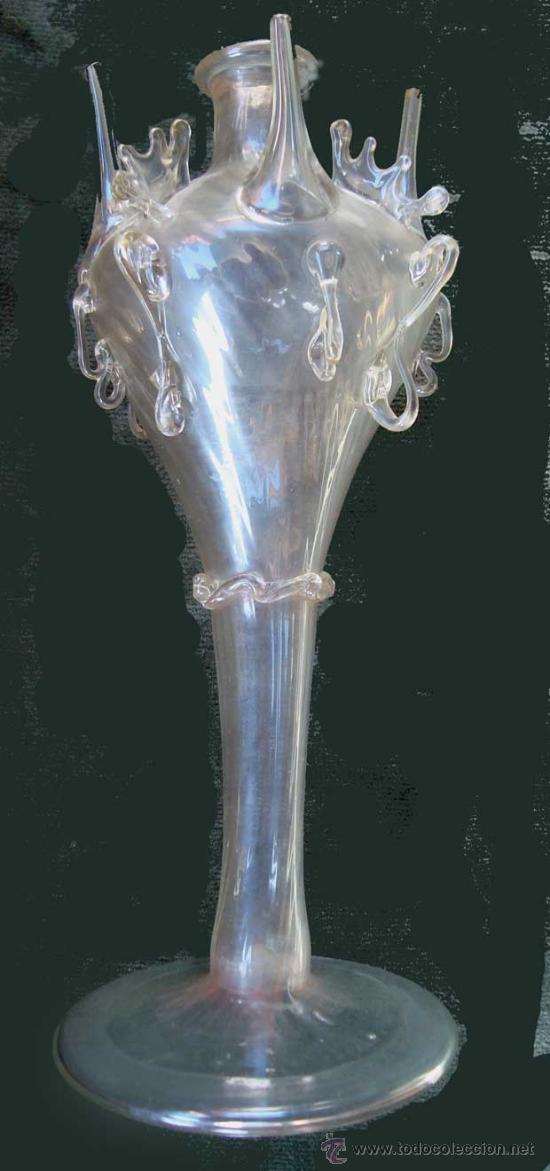 ALMORRAJA DE VIDRIO CATALAN (Antigüedades - Cristal y Vidrio - Catalán)