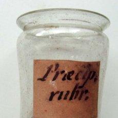 Antigüedades: BOTE DE FARMACIA DE VIDRIO SOPLADO DEL S XVII- XVIII. Lote 28543354