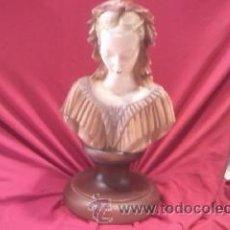 Antigüedades: PRECIOSO BUSTO DE DAMA DE EPOCA EN ALABASTRO. Lote 28606196