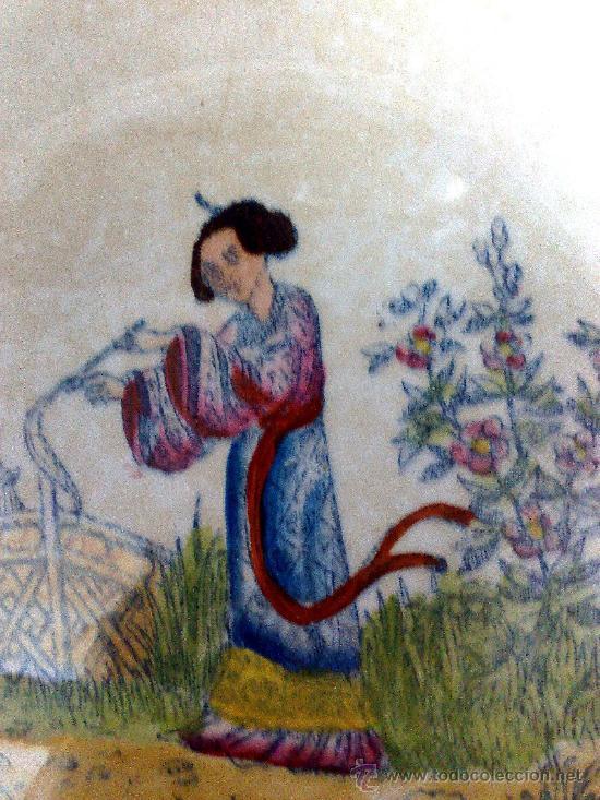 Antigüedades: FAMILIA ROSA, PLATO DE LA FABRICA DE LA CARTUJA, PICKMAN, SEVILLA, - Foto 3 - 28606479