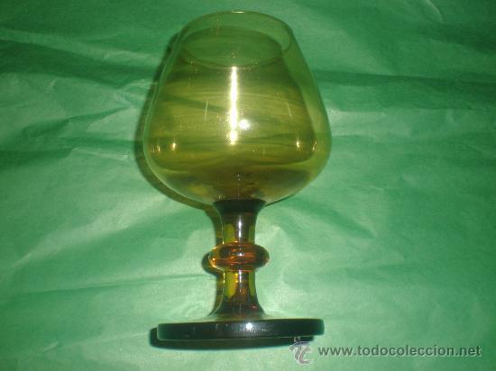 COPA DE CRISTAL CARAMELO (Antigüedades - Cristal y Vidrio - Otros)