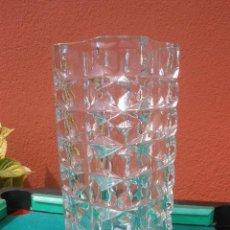 Antigüedades: PRECIOSO JARRON DE CRISTAL PRENSADO.. Lote 28633663