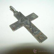 Antigüedades: ANTIGUA CRUCIFIJO DE PLATA CON CONTRASTES.....SIGLO XIX.. Lote 28633879