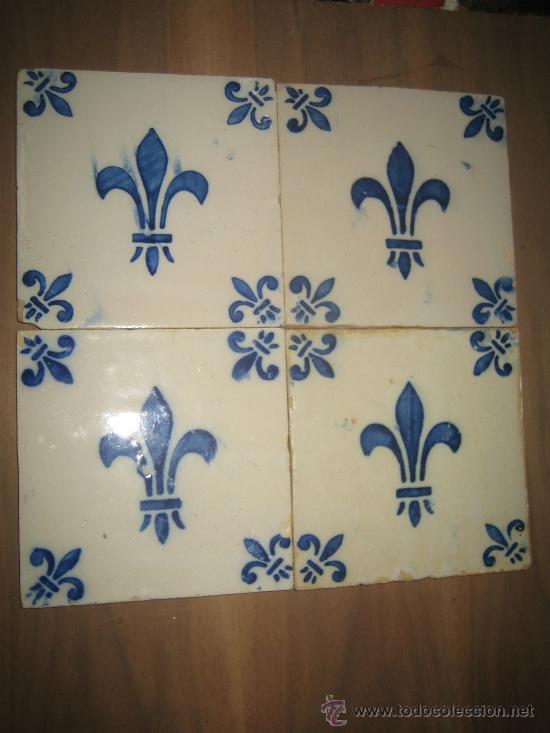 Antiguos azulejos portugueses con la flor de li comprar azulejos antiguos en todocoleccion - Azulejos portugueses comprar ...