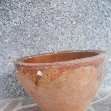 Antigüedades: ANTIGUO MORTERO DE BARRO VIDRIADO.. Lote 28638503