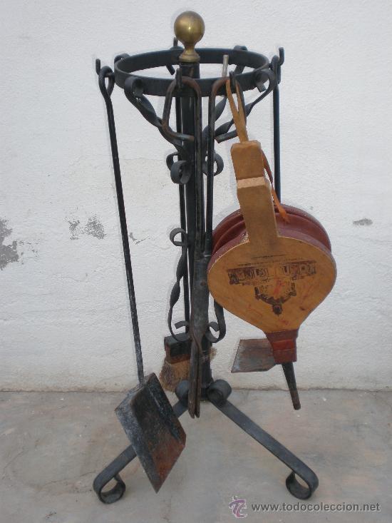 Antiguo juego accesorios utensilios para chime comprar - Utensilios para chimeneas ...
