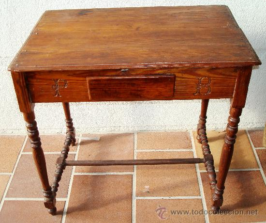 Mesa auxiliar de casta o antigua restaurada comprar - Mesas auxiliares antiguas ...