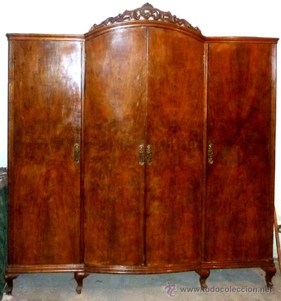 Armario ropero muy antiguo de madera de princip comprar - Armario antiguo segunda mano ...