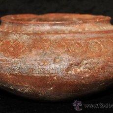 Antigüedades: ANTIGUO CUENCO EN TERRACOTA CON MOTIVOS GRABADOS DEL SIGLO XIX. DESCONOZCO MANUFACTURA. Lote 29960422