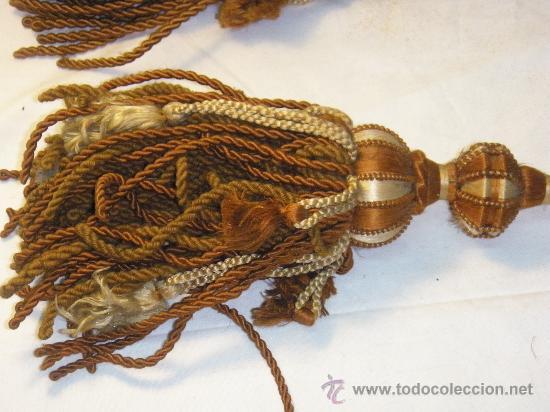 Antigüedades: PAREJA ALZAPAÑOS ANTIGUOS DE PASAMANERIA - Foto 4 - 28677814