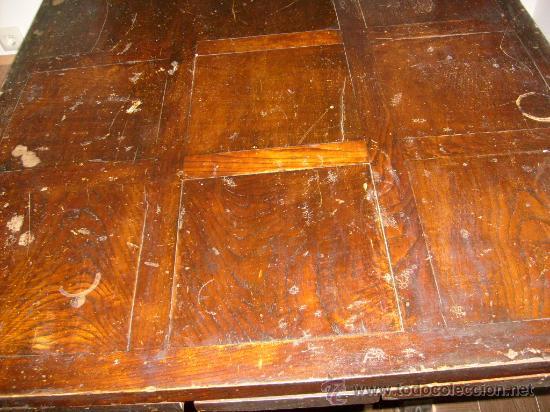 Antigüedades: mesa de castaño - Foto 13 - 26380770