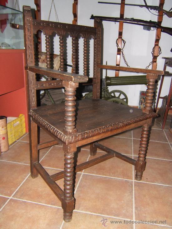 SILLON MADERA DESPACHO (Antigüedades - Muebles Antiguos - Sillones Antiguos)