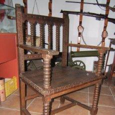 Antigüedades: SILLON MADERA DESPACHO. Lote 39981859