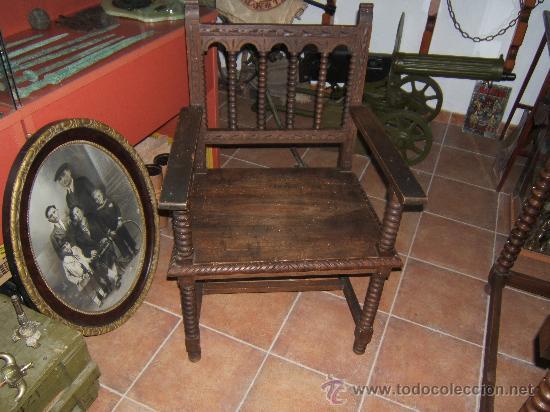 Antigüedades: sillon madera despacho - Foto 2 - 39981859