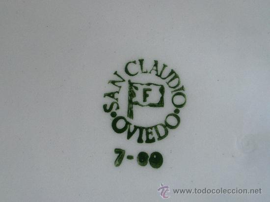 Antigüedades: ENSALADERA PORCELANA CERAMICA ANTIGUA SAN CLAUDIO OVIEDO - Foto 2 - 28711342