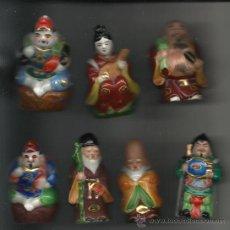 Antigüedades: ANTIGUOS.SIETE DIOSES CHINOS DE LA FORTUNA EN PORCELANA CHINA . Lote 28726263