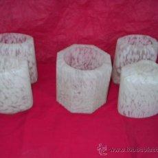 Antigüedades: 5 GLOBOS TULIPA ANTIGUOS - 1 CENTRAL Y 4 LATERALES. Lote 28820305