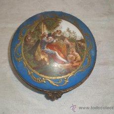 Antigüedades: CAJA DE PORCELANA PINTADA. Lote 28786602