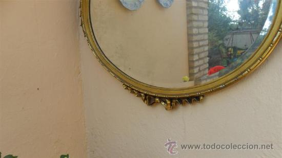 Antigüedades: espejo de madera dorada - Foto 3 - 28741774