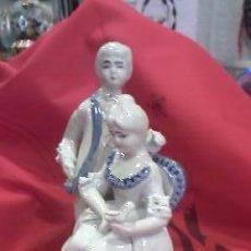 Antigüedades: PRECIOSA PAREJA DE NOVIOS EN PORCELAN,PINTADO A MANO.. Lote 28745622