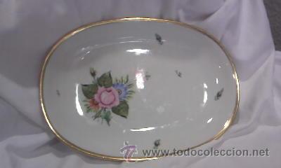 Antigüedades: Bonita fuente de porcelana de THOMAS GERMANY,año 1967 sellada y firmada. - Foto 2 - 28750535