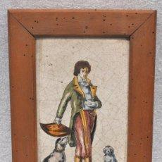Antigüedades: AZULEJO CREO VALENCIANO O CATALAN DE S.XIX.. Lote 28935667